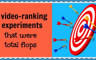 2 video-ranking experiments that were total flops